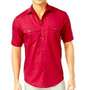 Alfaro Men's Warren Textured Short Sleeve Shirt